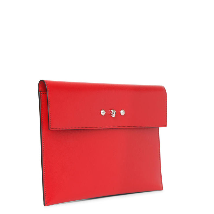 Deep red envelope clutch