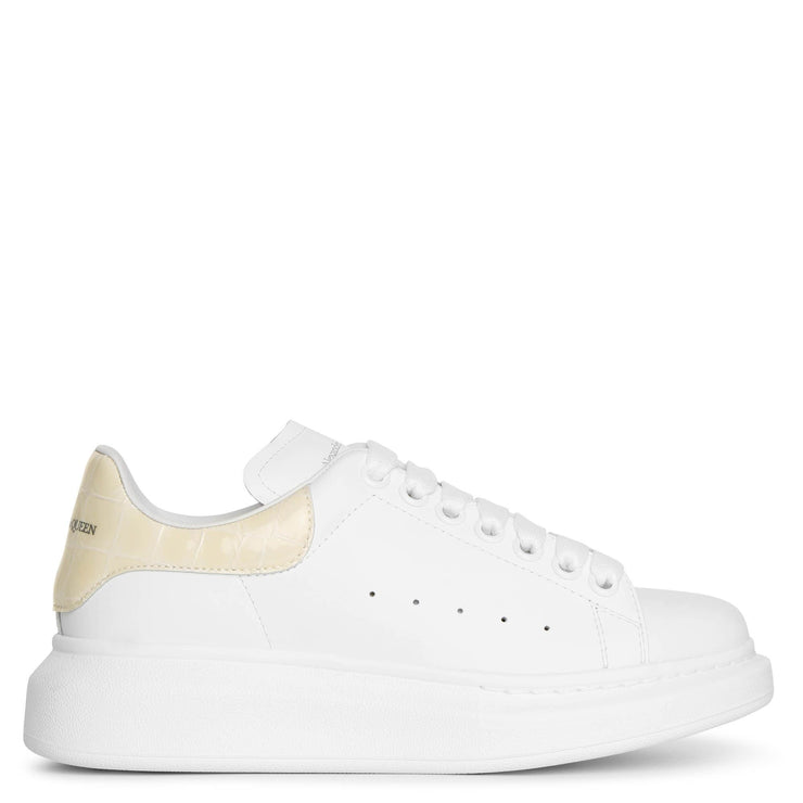 Classic croco print cream sneakers