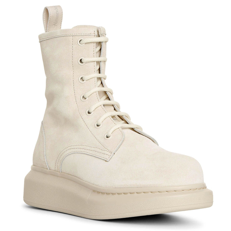Hybrid lace up suede boots