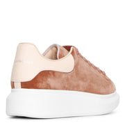 Velvet rose gold classic sneakers