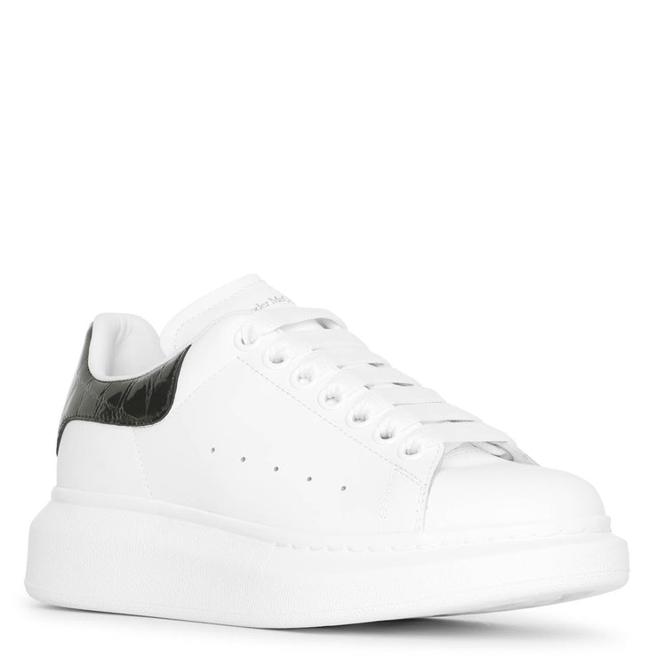 White and black croc classic sneakers