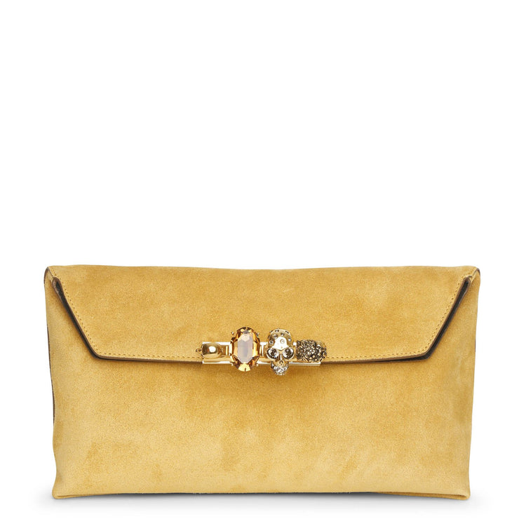 Four Ring soft suede pouch