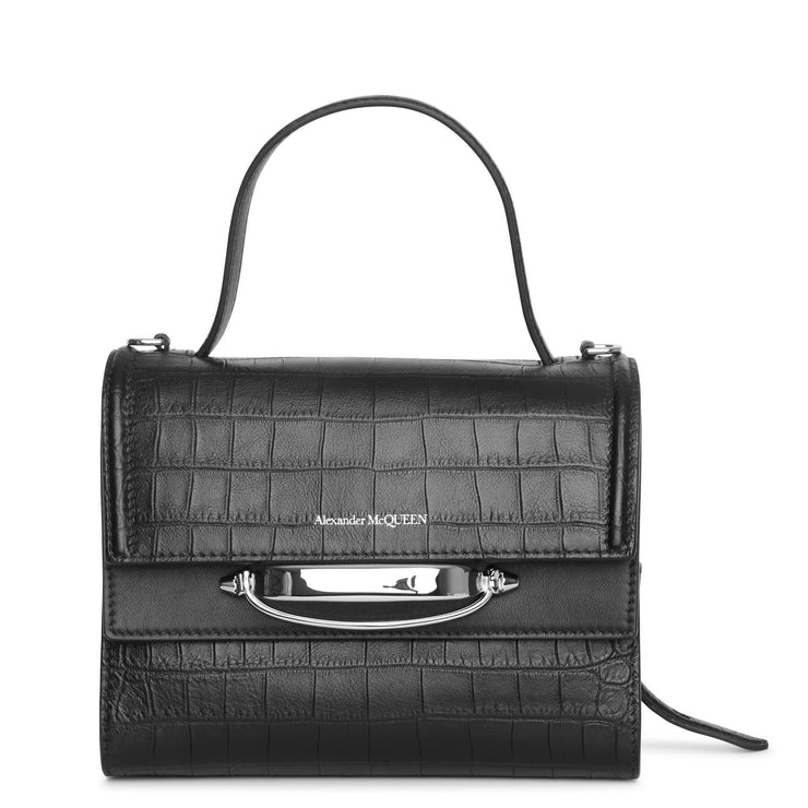 The Story small croc-effect leather bag