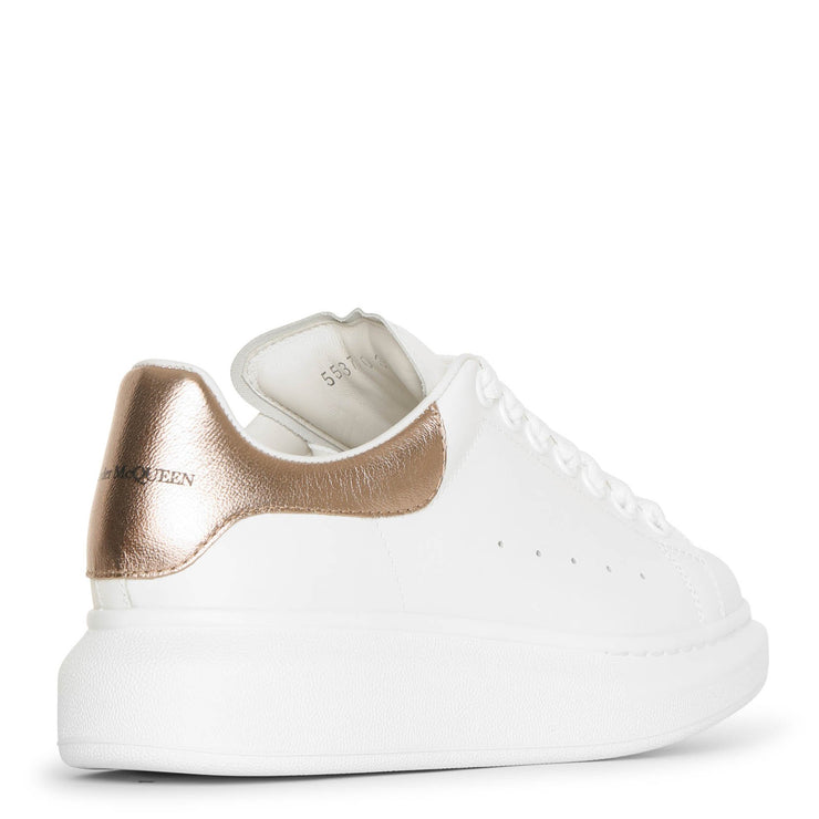 White and rose gold classic sneakers