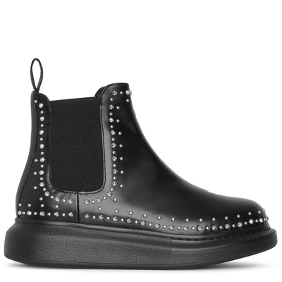 Hybrid studded chelsea boots