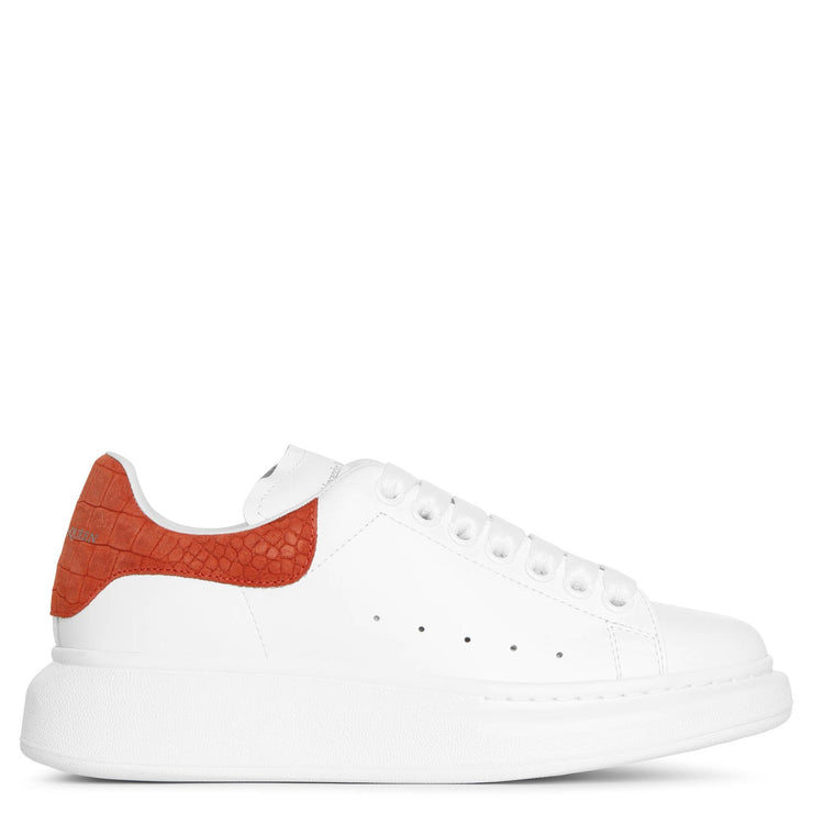 White and coral suede classic sneakers