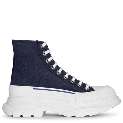 Tread slick denim boots