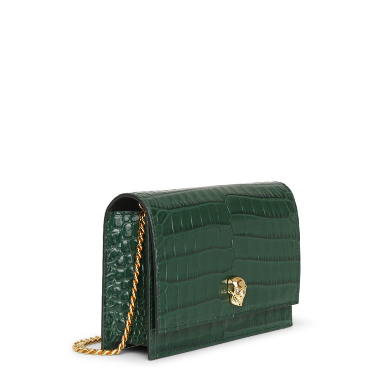 Small skull bag emerald