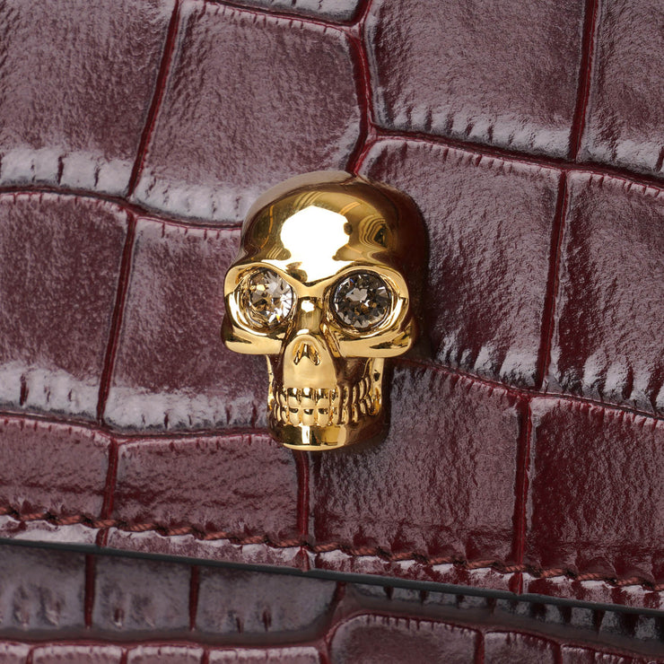 Small skull bag burgundy