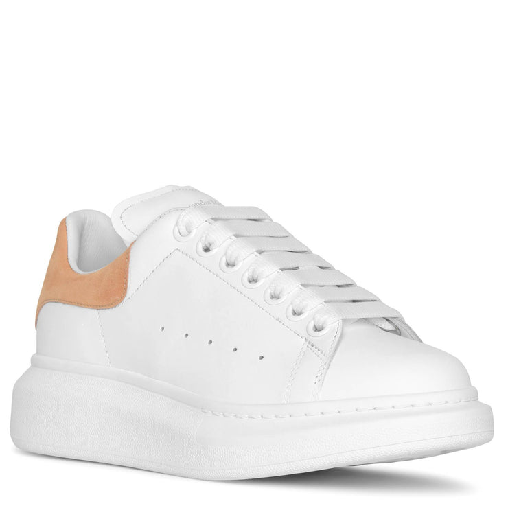 Classic white and beige leather sneakers