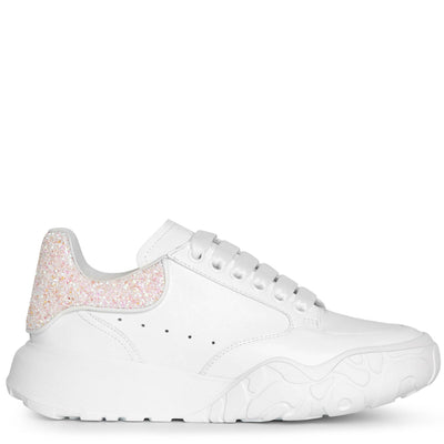 Court white glitter sneakers