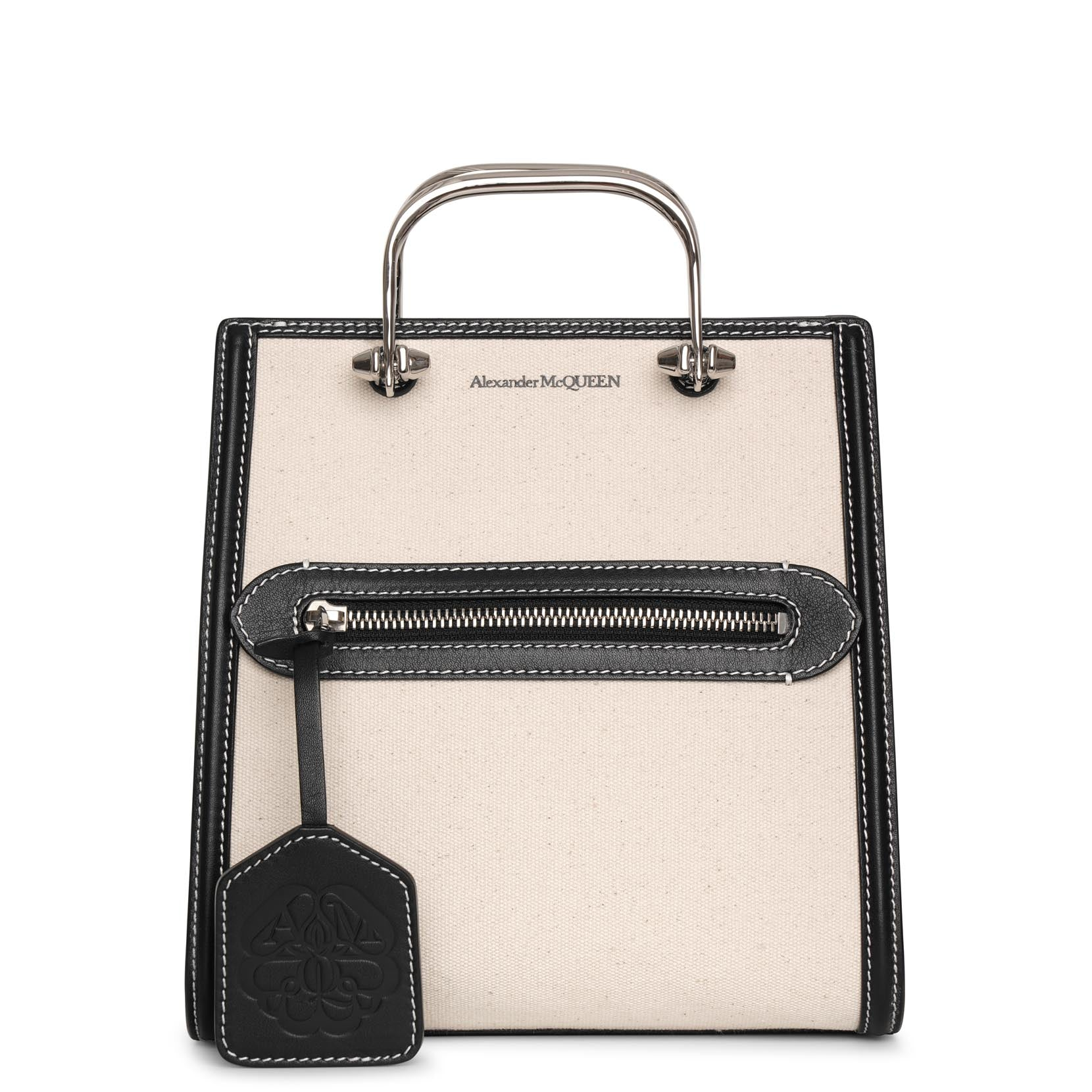 Alexander Mcqueen Leathers The Short Story canvas bag