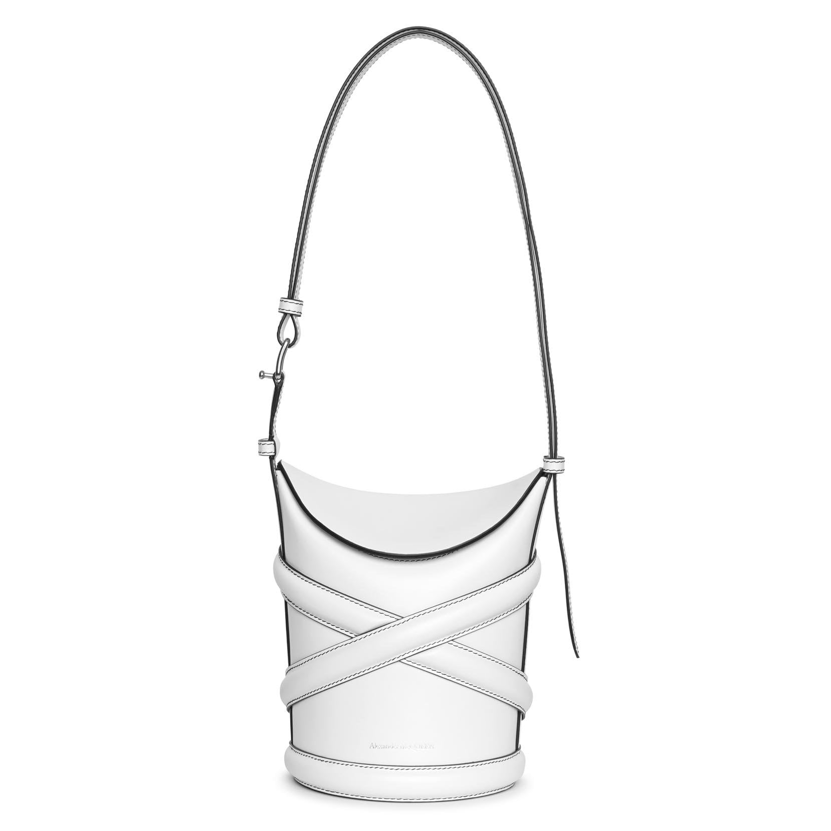 Alexander Mcqueen Leathers The Curve small leather bucket bag