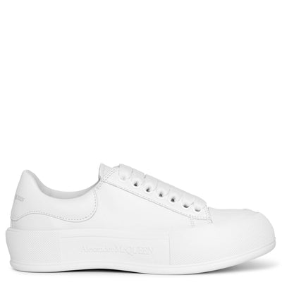 Deck Plimsoll white leather