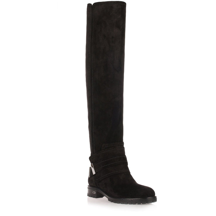 Escape black suede over-the-knee-boot