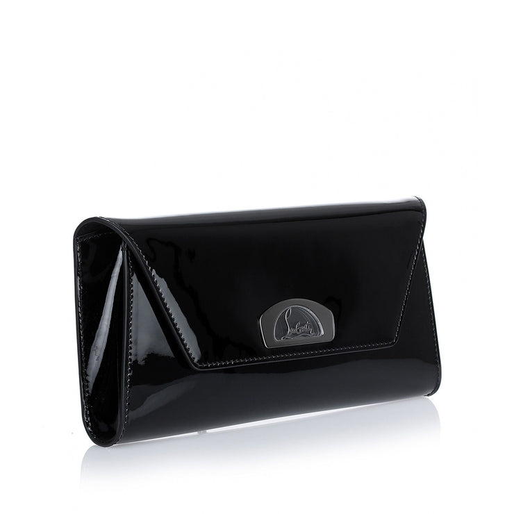 Vero Dodat black patent leather clutch