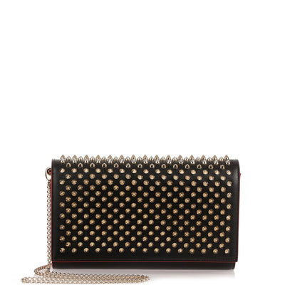 Paloma black spikes clutch