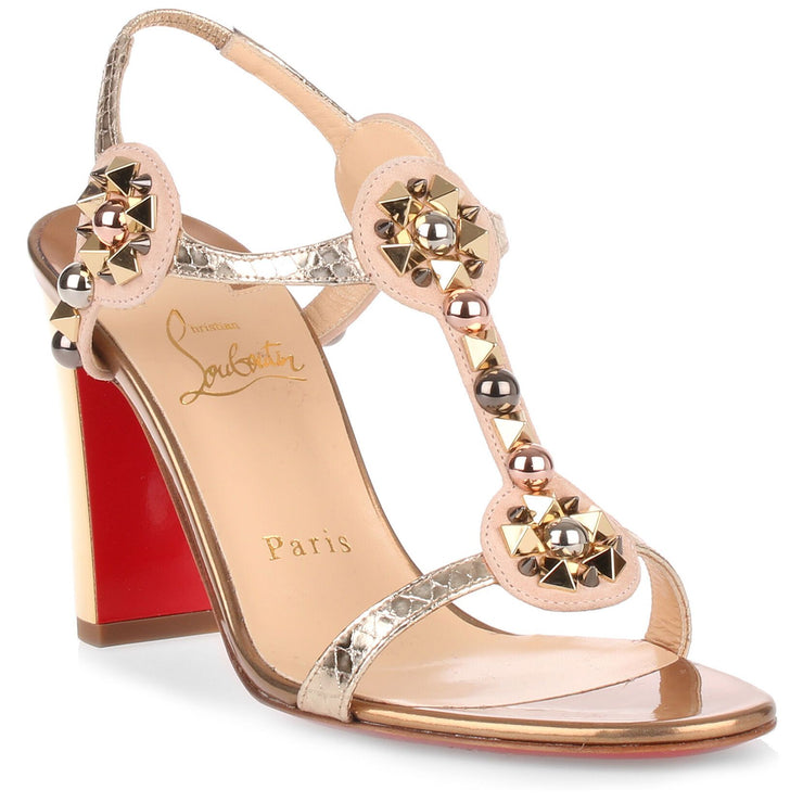 Kaleitop 85 metallic leather sandal