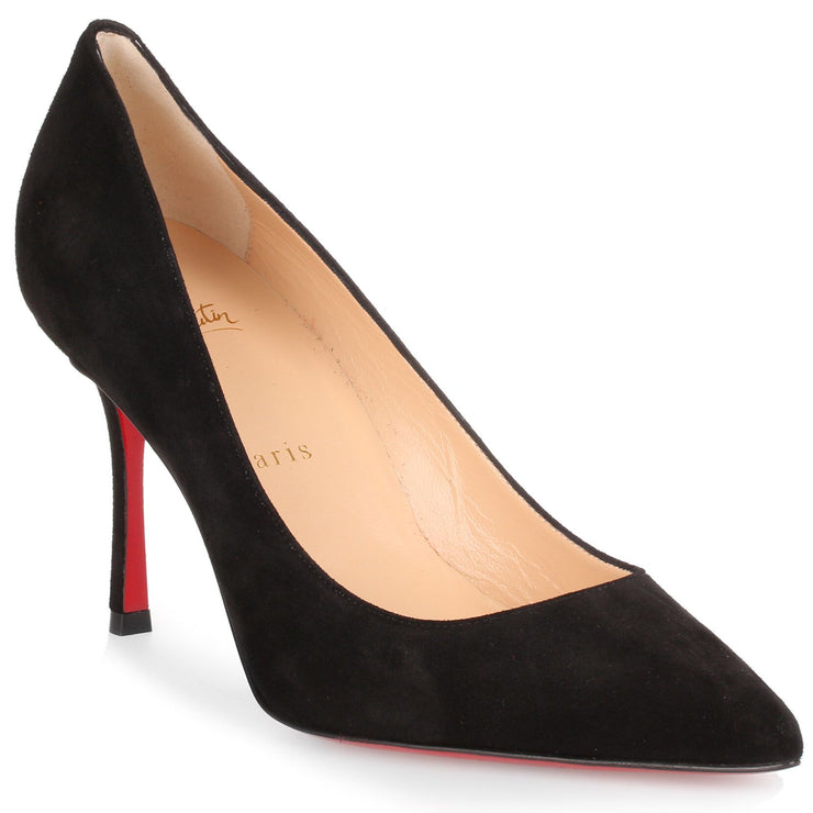 Decoltish 85 black suede pump