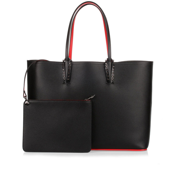 Cabata black leather tote bag