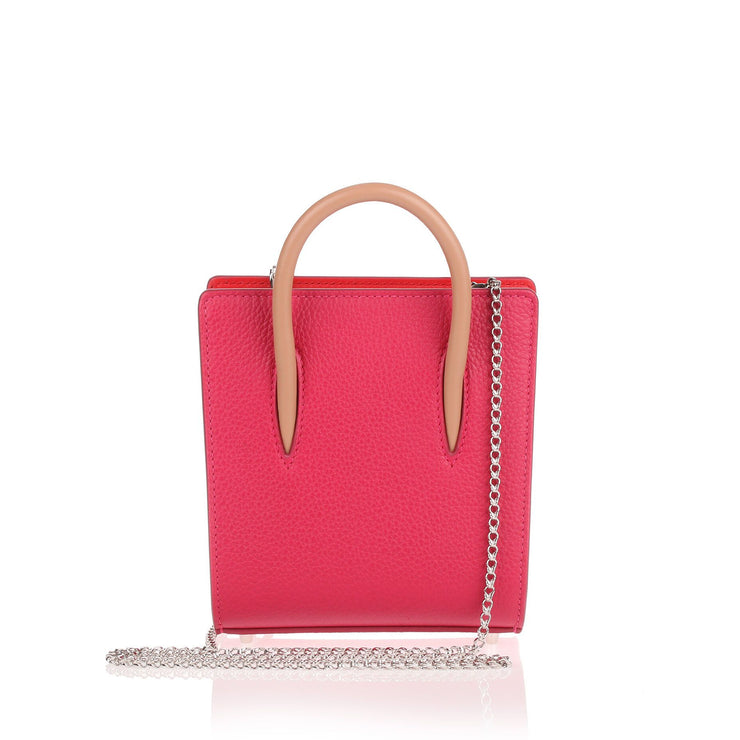 Paloma nano pink leather mini bag