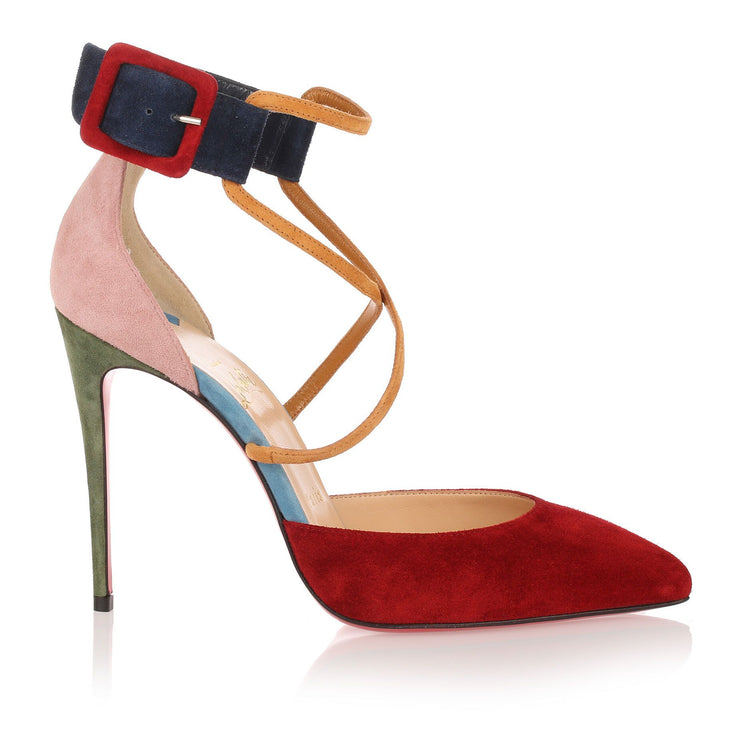 Suzanna 100 multi colour suede pump