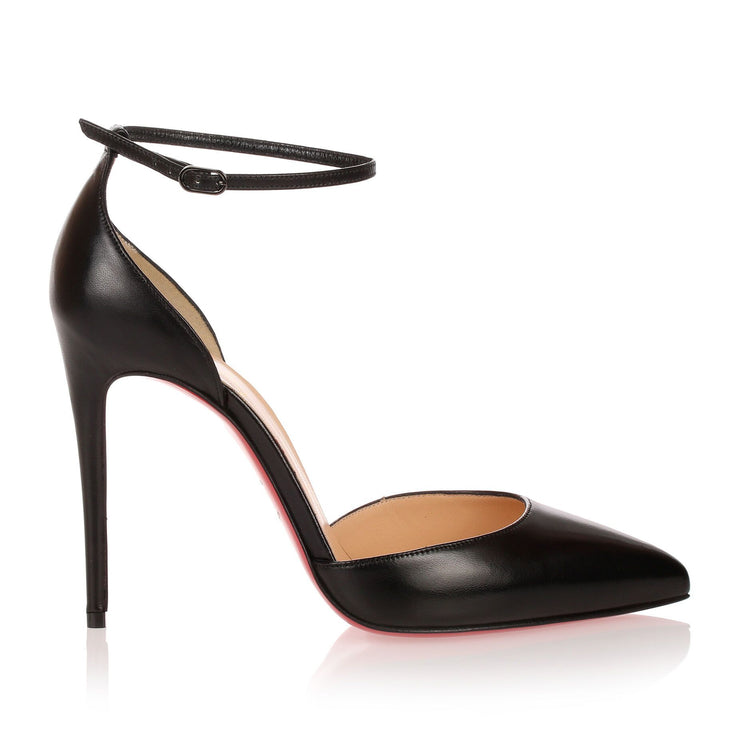 Uptown 100 black leather pump