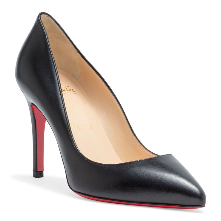 Pigalle 85 black leather pump