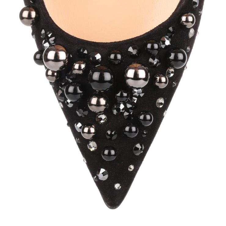 Candidate 100 black suede embellished pump