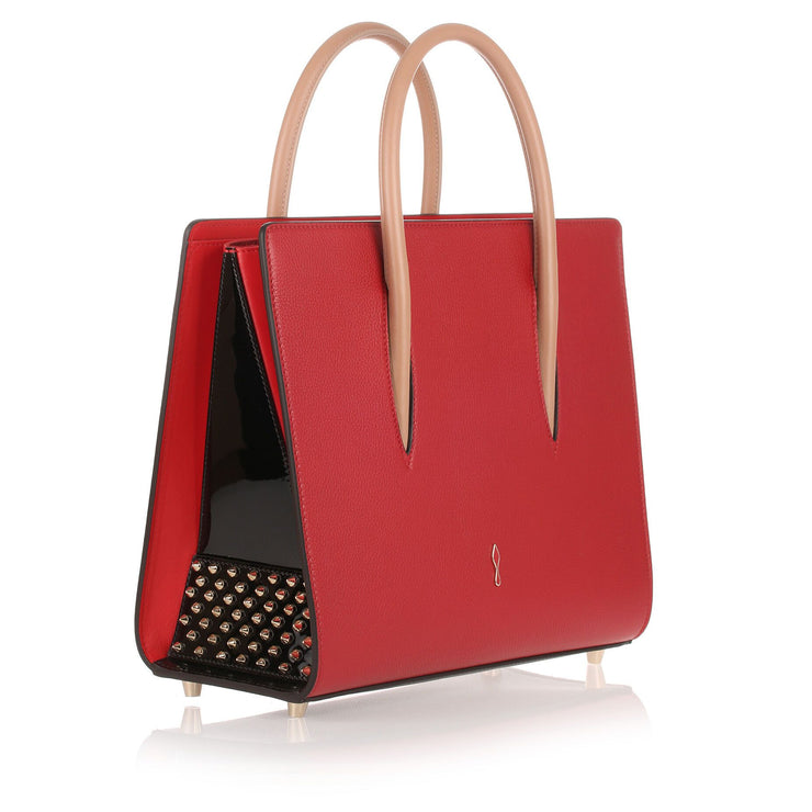 Paloma medium red leather bag