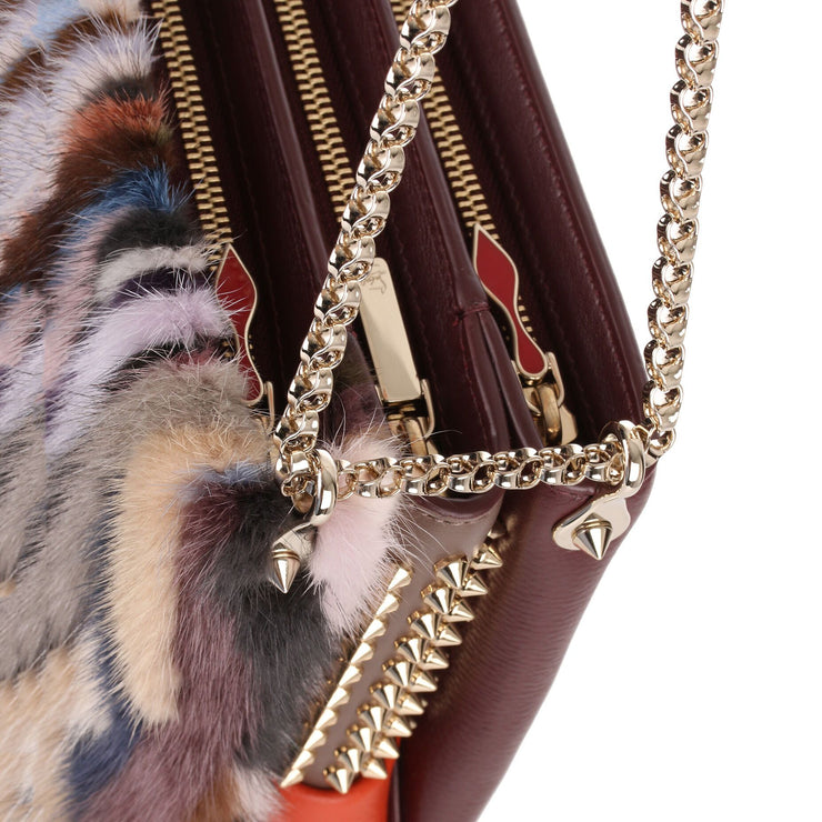 Triloubi large multi coloured fur bag