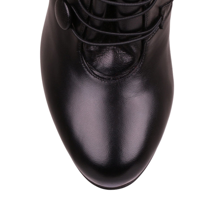 Booton 100 black leather boot