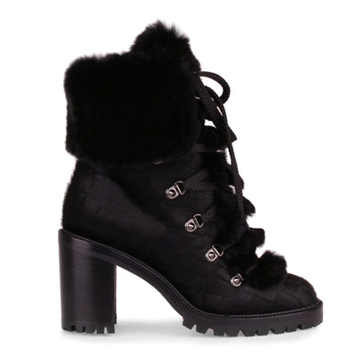Fanny 70 black pony boot