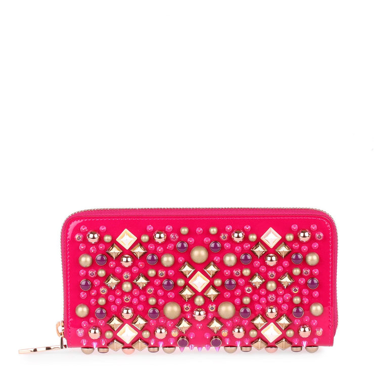 Panettone patent pink wallet