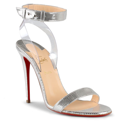 Jonatina 100 silver leather sandals