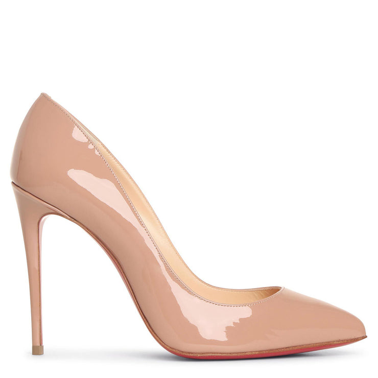 Pigalle Follies 100 beige patent leather pumps