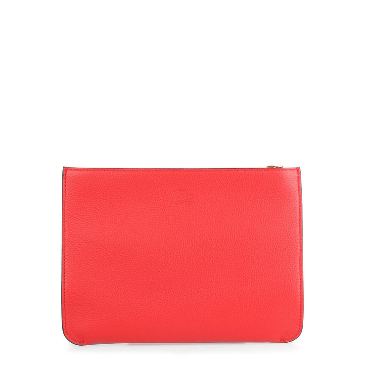 Loubicute red leather pouch