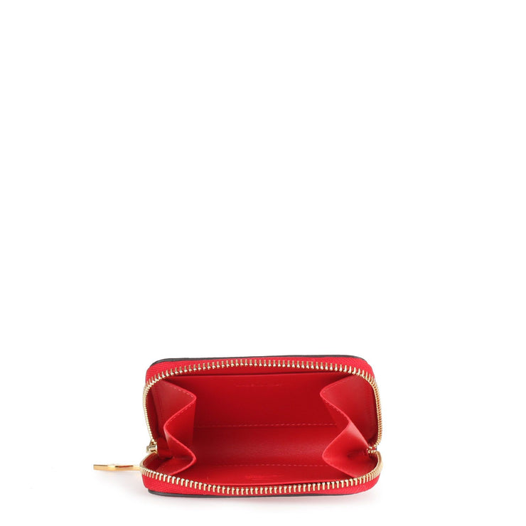 Panettone red leather coin purse
