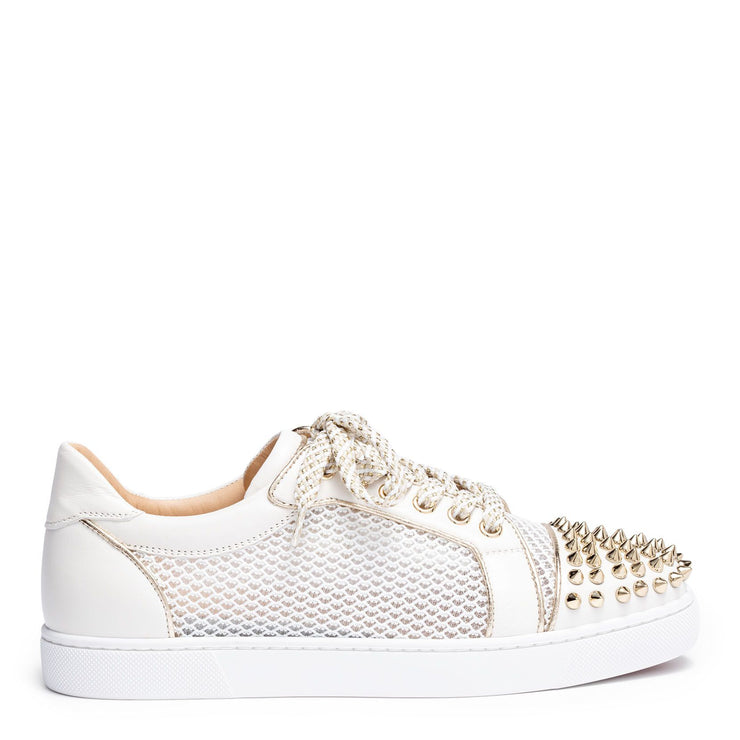 Vieira light gold leather spike sneakers