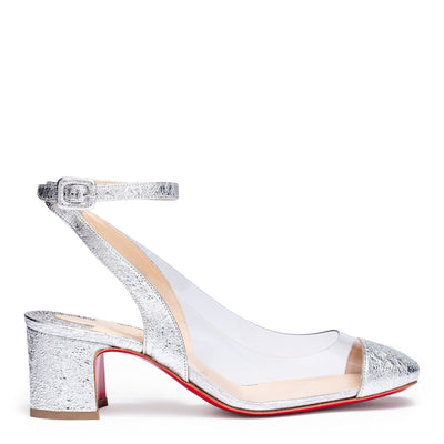 Asticocotte 55 silver patent leather pumps