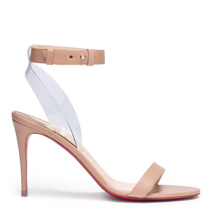 Jonatina 85 beige leather sandals