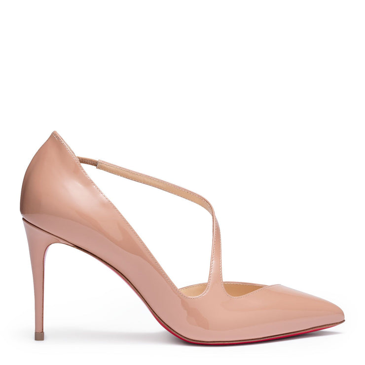 Jumping beige 85 patent leather pumps