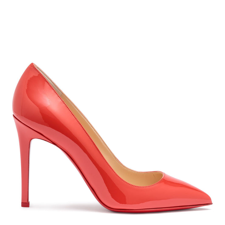 Pigalle 100 light red patent leather pumps