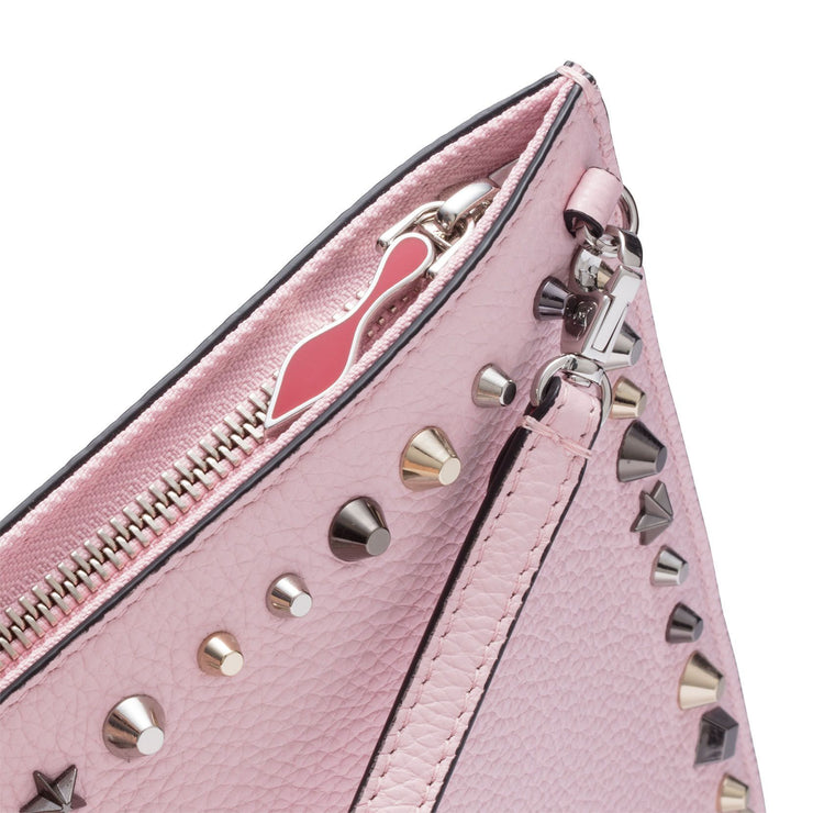 Loubiclutch pink leather clutch