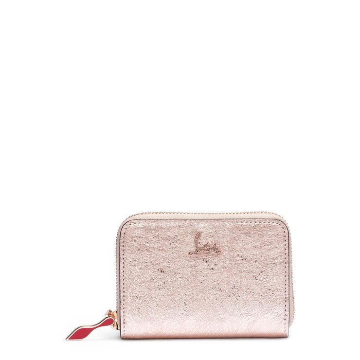 Panettone leather coin purse vintage rose gold