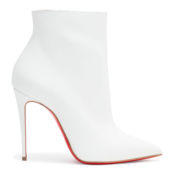 So Kate 100 White Leather Booties