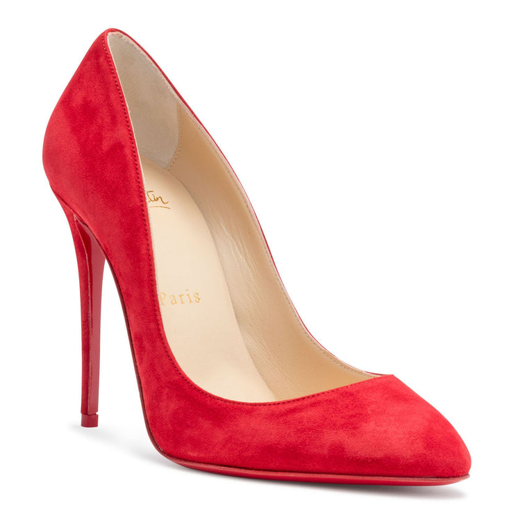 Eloise 100 Red Suede Pumps