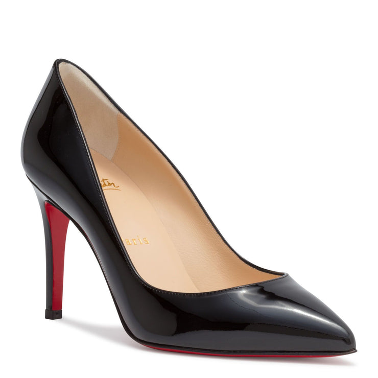 Pigalle 85 Black Patent Leather Pumps
