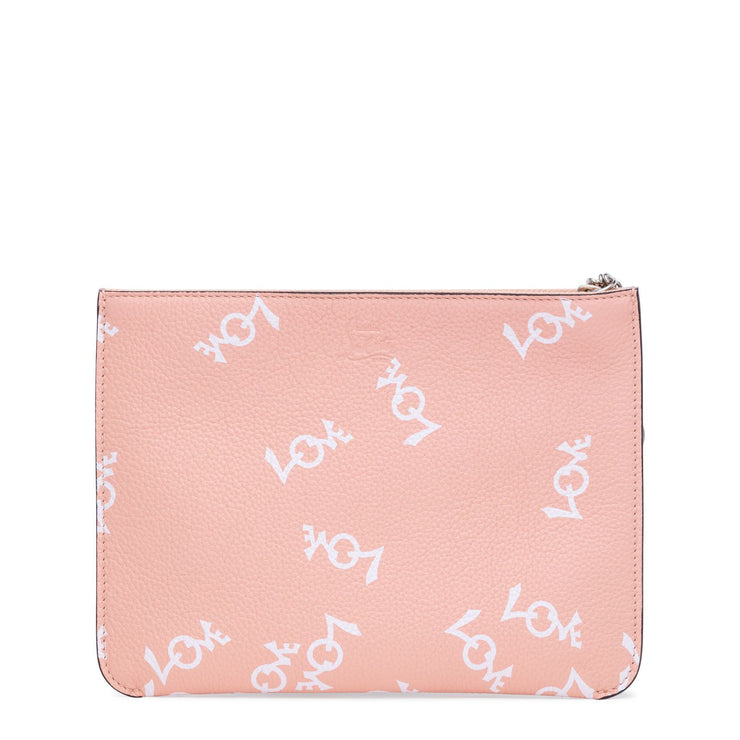 Loubicute Crazy Love White and Pink Clutch