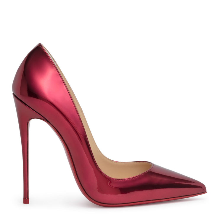So Kate 120 metallic red patent leather pumps